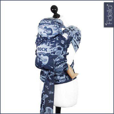 e2d64e1a85e New Size  Fidella FlyTai - MeiTai babycarrier Rock n Rolla blue
