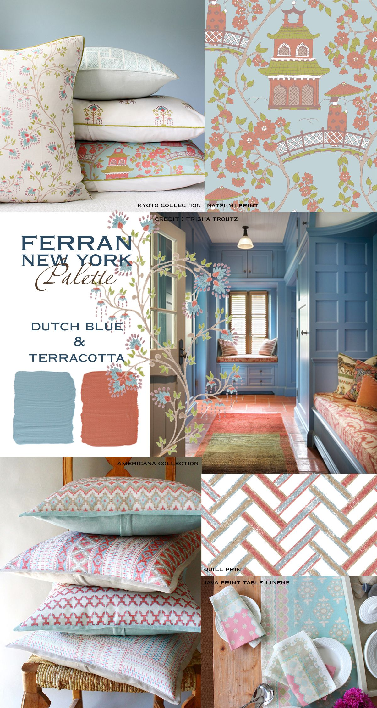Pin On Palette Dutch Blue Terracotta #terracotta #living #room #walls