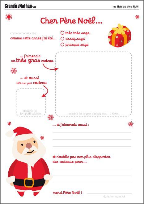 Cadeau Noel Pour Papa Pas Cher.Printable Lettres Au Père Noël Pour Les Loulous Lettre