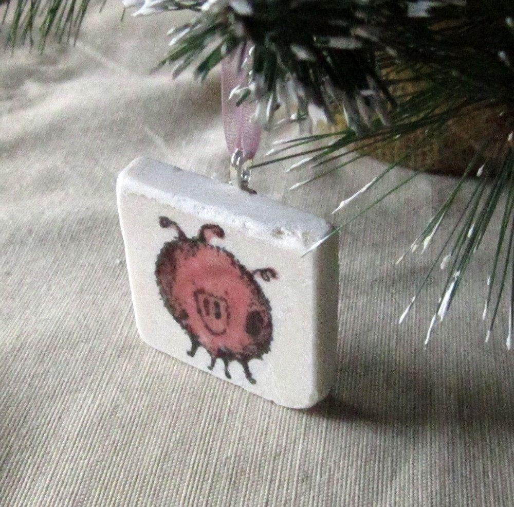 Pig Christmas Holiday Ornament