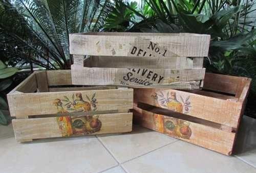 Decoracion de cajas de madera buscar con google for Decoracion con cajas de madera