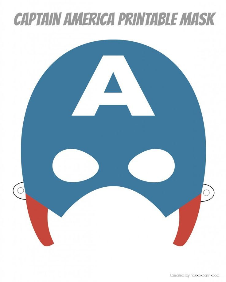 Massif image in free printable superhero masks