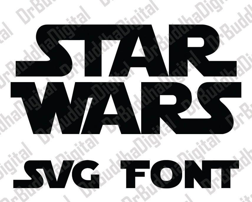 Star Wars Font SVG Collection Star Wars Alphabet DXF