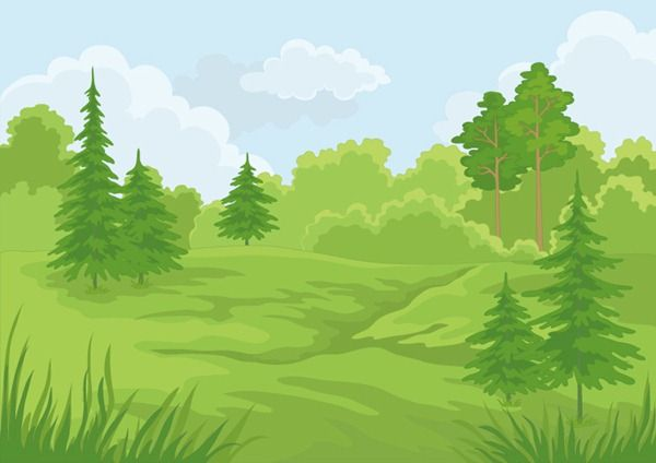 Landscapes My Free Photoshop World Part 3 Forest Cartoon Summer Landscape Forest Scenery
