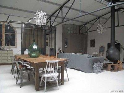 Charpente Apparente Salon magnifique loft style maison de famille | apparente, charpente et salon