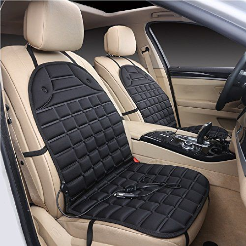 Heated CarHome Seat Cover 12V Auto Heater Cushion Warmer All Vehicles Car Adapter