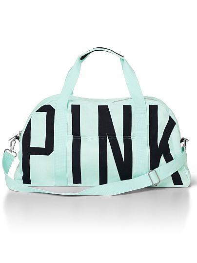 New PINK! Large Sporty Duffle For the gym or overnight adventures—this duffle is the perfect size for toting your essentials. Only from Victoria's Secret PINK. $49.50