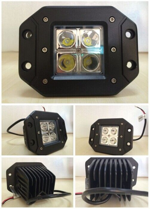 3inch 18w Flush Mount Led Pot Light Md 3181 Led Lightbar Worklight 4x4 Offroad Jeep Tuningcar Atv Utv
