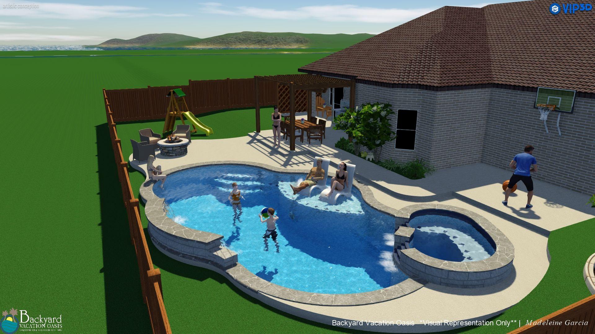 Backyard Vacation Oasis Backyard Vacation Backyard Swimming Pools