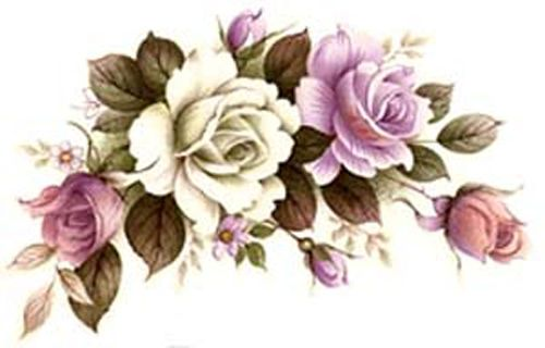 So PReTTy VinTaGe IMaGe BeauTiFuL FLoRaL SWaGs /& BuDs ShaBby WaTerSLiDe DeCALs