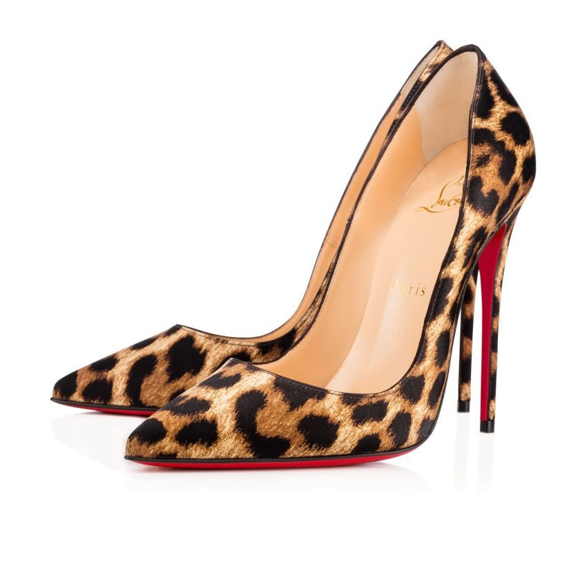 Christian Louboutin Canada Official Online Boutique - So Kate 120 Brown  Leopard Satin available online. Discover more Women Shoes by Christian  Louboutin