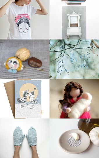 Surprises in white by Mammabook on Etsy--Pinned with TreasuryPin.com