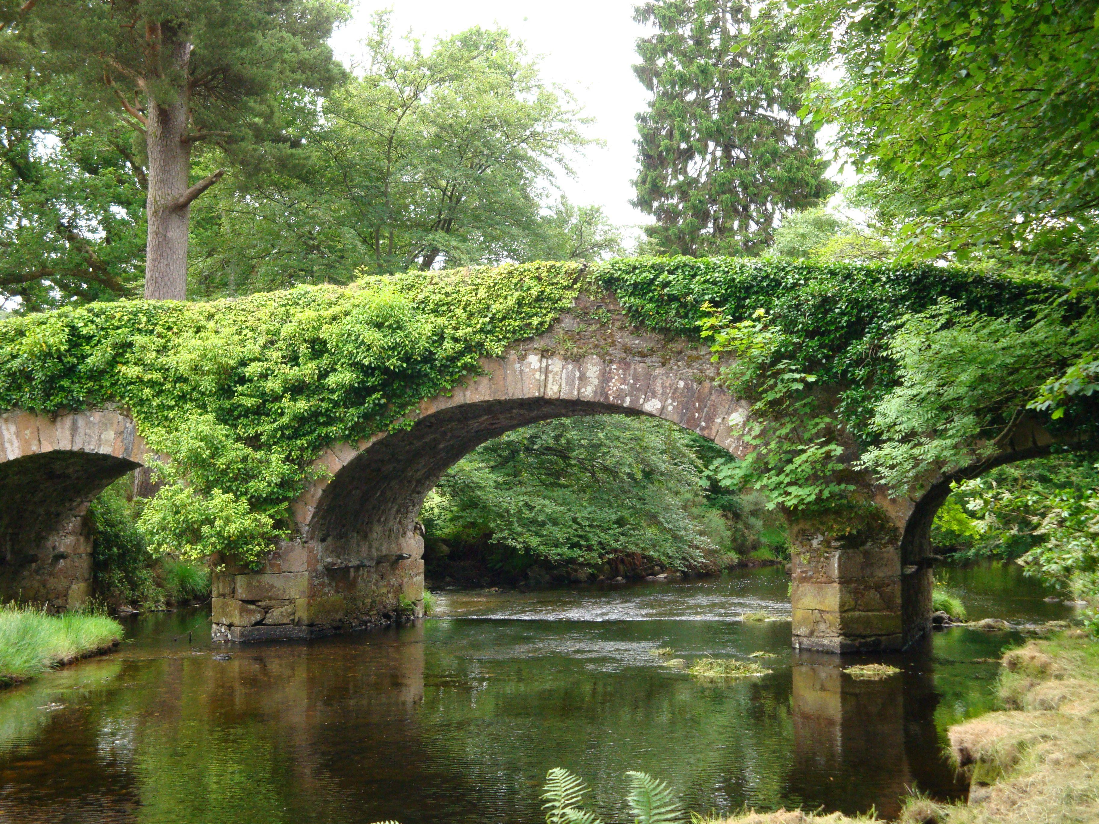 Derrybawn Bridge On The Glendassan River In County Wicklow