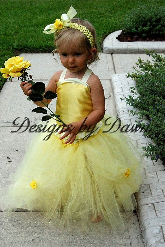 Custom Made Inspired Belle Dress Corset top tutu by mytutuboutique, $63.00