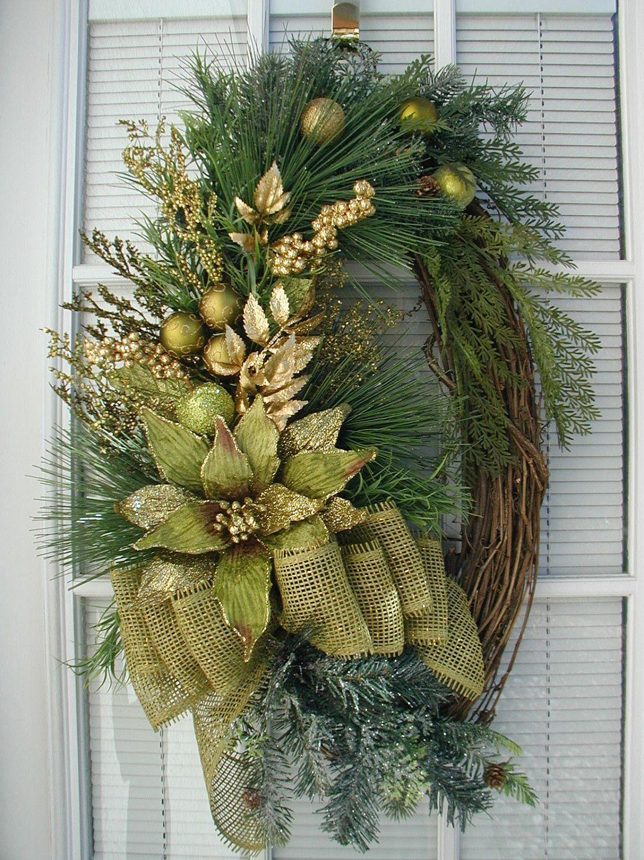 Christmas Winter Lime Kiwi Green Wreath.