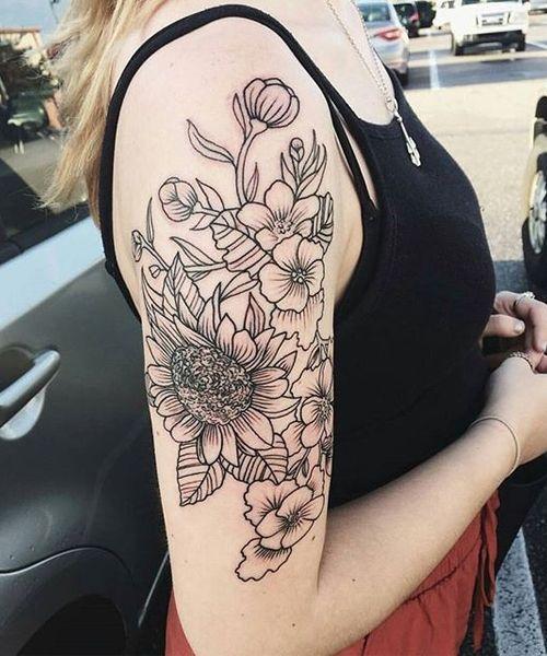 Fabulous Flower Sleeve Tattoos For Women I Want Pinterest