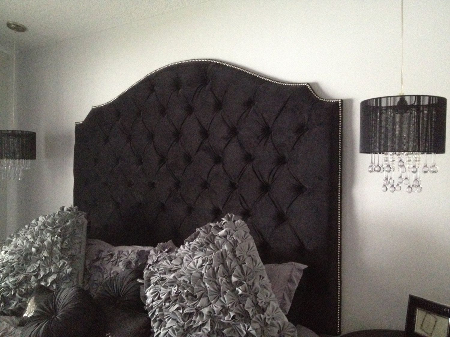 Black Tufted Headboard | Decorating | Pinterest