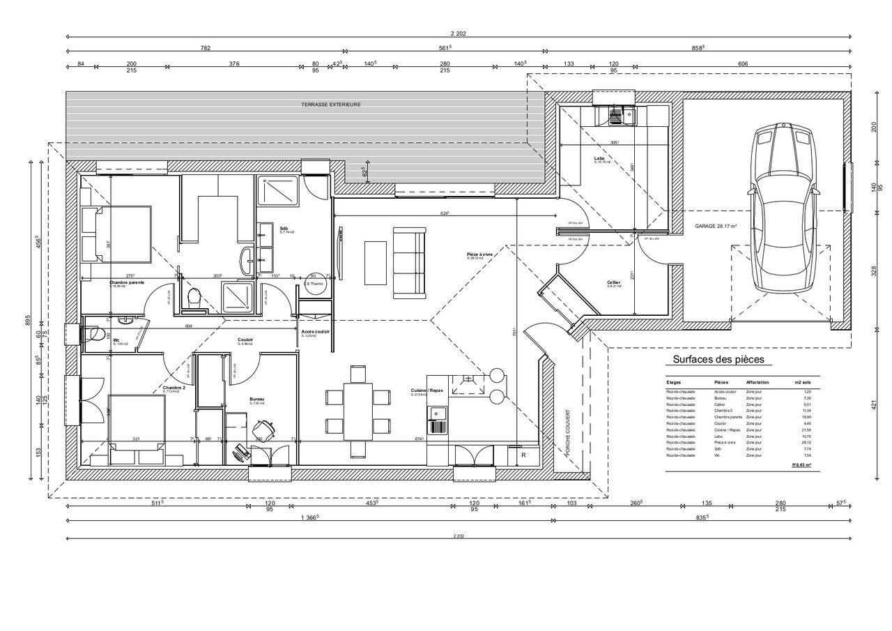 Plan Maison 120 M Maison Traditionnelle Plan Maison Plan De Maison Gratuit