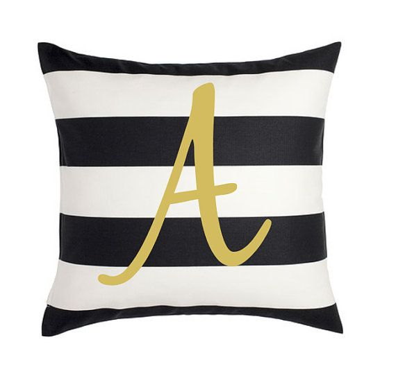 Letter Pillow Cover College Room Decor By LuxePillowPalace Magnificent College Decorative Pillows