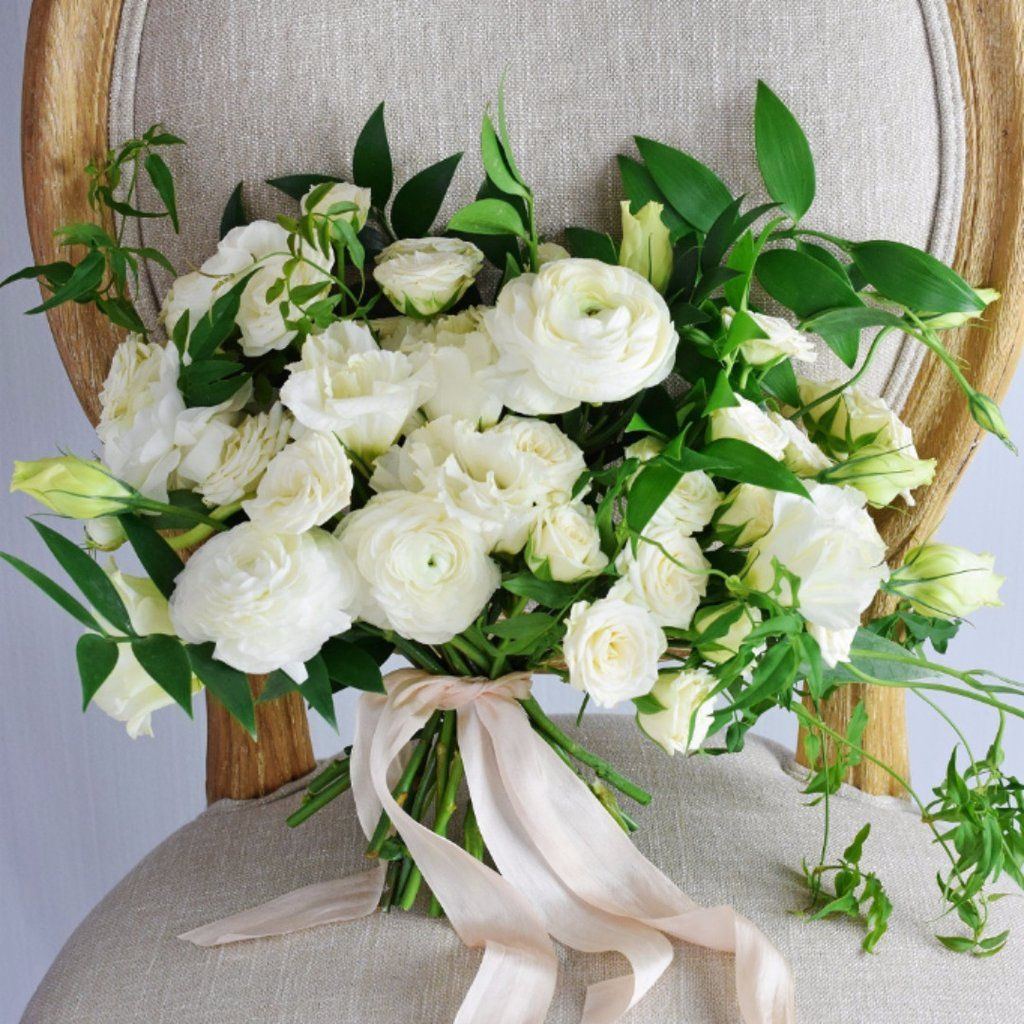 Organic White Bridal Bouquet (With images) Wedding
