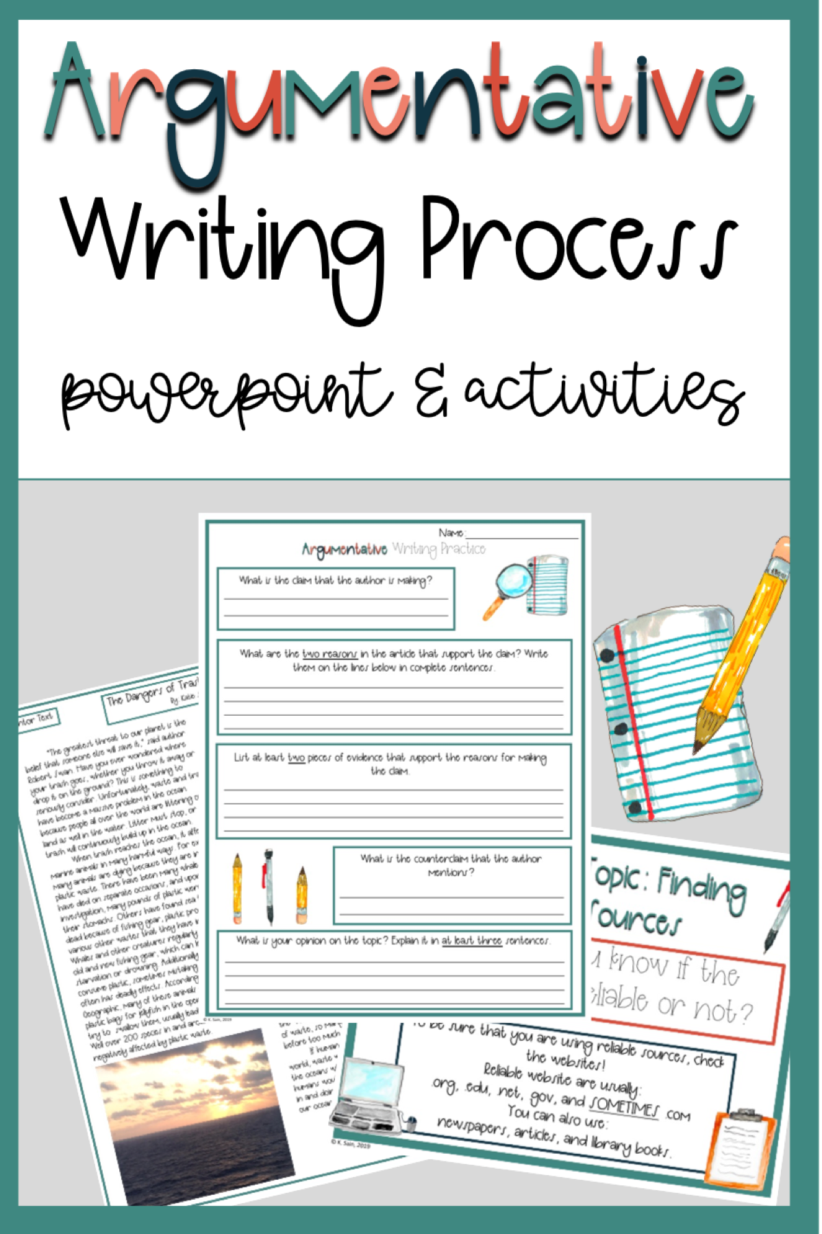 Argumentative Writing Process Powerpoint And Activities