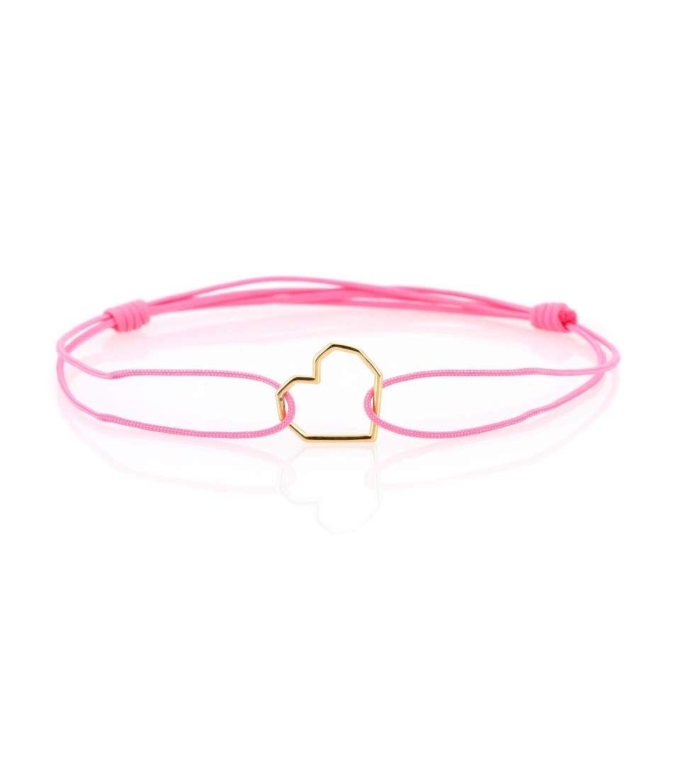 Aliita Corazon Puro 9kt gold cord bracelet DrzPbaL