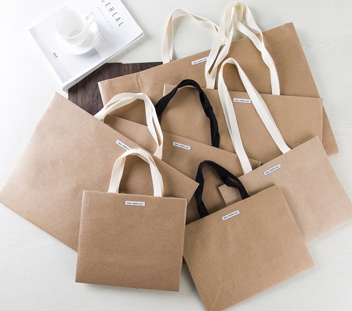 Luxury Gift Bag Luxury Paper Carrier Bag Yellow Craft Paper Bag