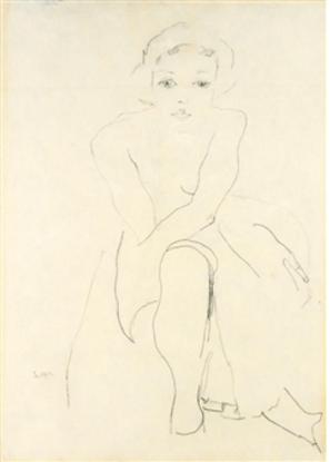 Egon Schiele, Donna nuda seduta.