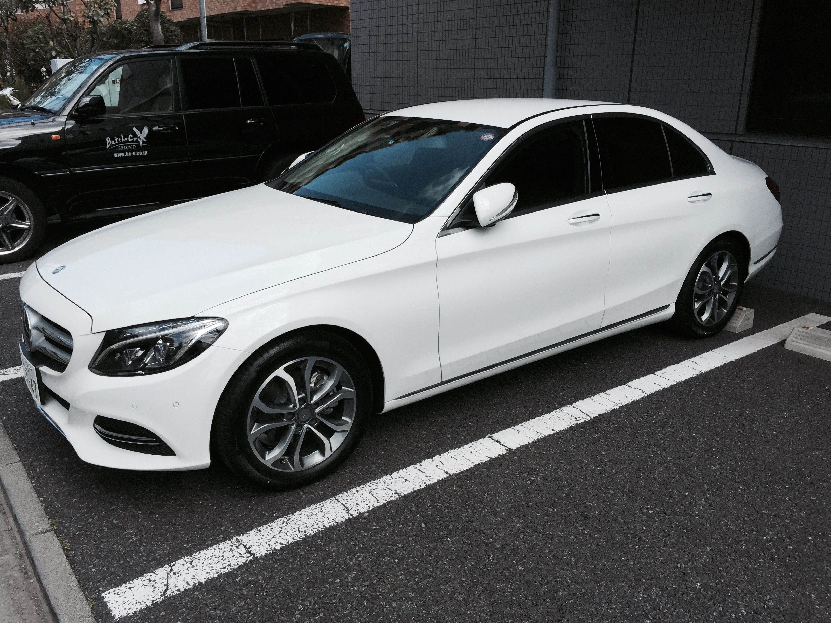 My new Mercedes C200 at work!