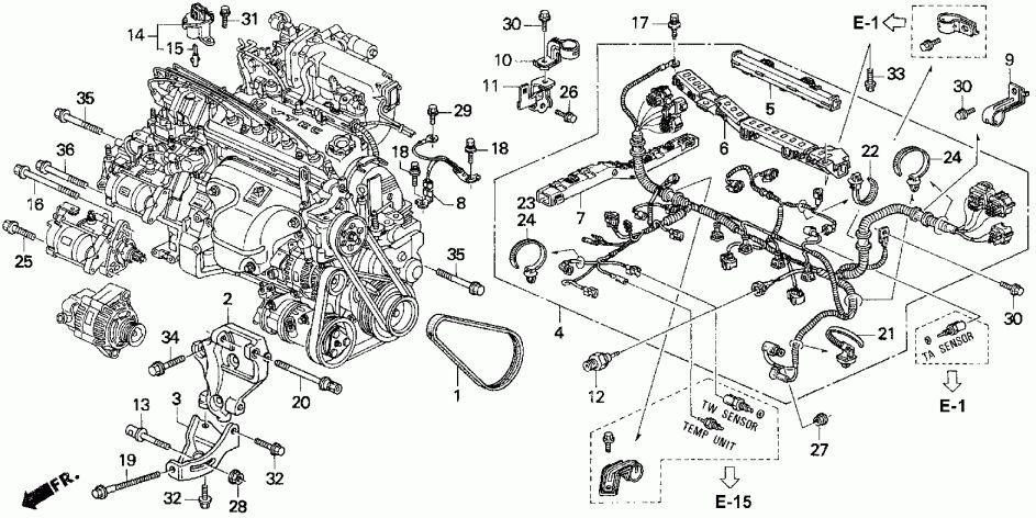 Pin di wiring diagram Honda 92