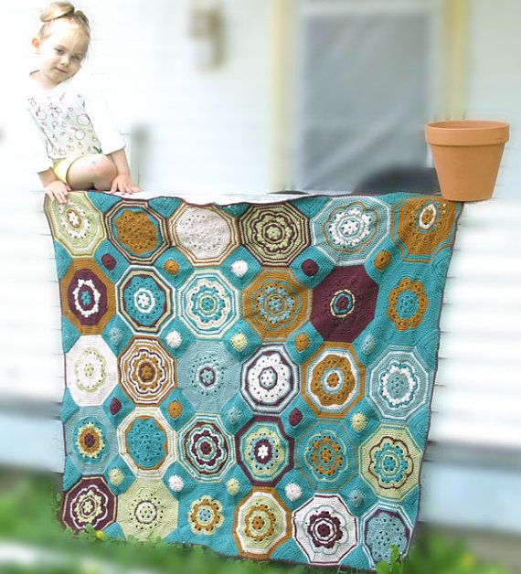 Moorish Mosaic Afghan Crochet Pattern by CrochetGarden on Etsy, $4.50
