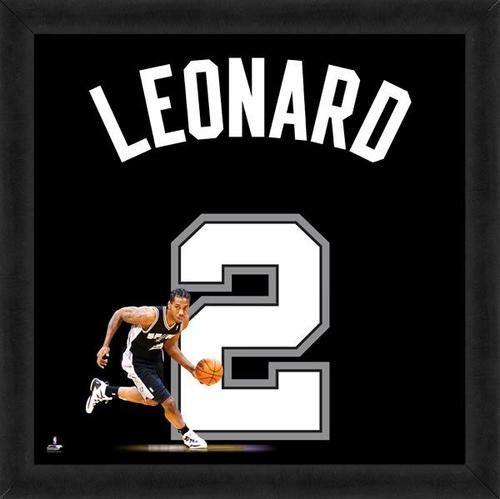 94fd9d351f80 Kawhi Leonard Framed San Antonio Spurs 20x20 Jersey Photo
