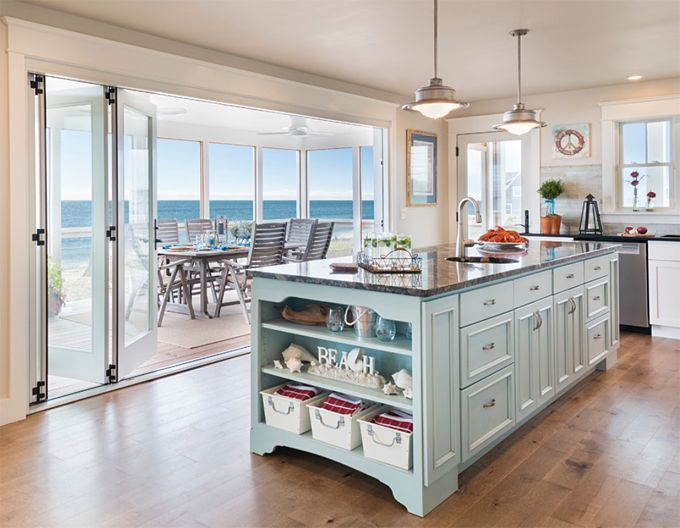 rustic beach themed kitchen decor | More ideas: Beach White Theme Kitchen Countertops Modern ...