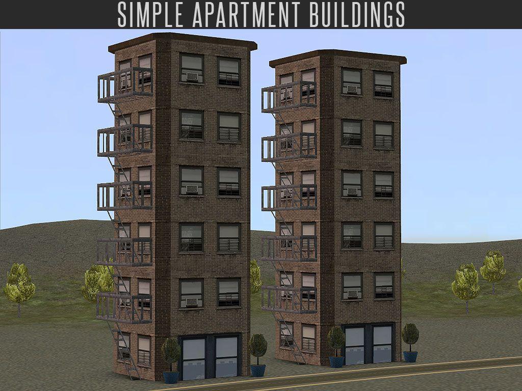 Mod The Sims - Simple Apartment Building (Neighbourhood Decoration)