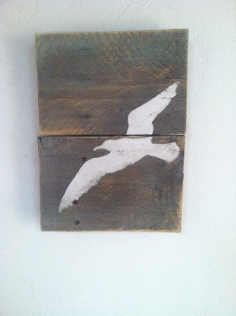 Sea Gull Wall Art Ocean Decor Hand Painted by TuckersMercantile