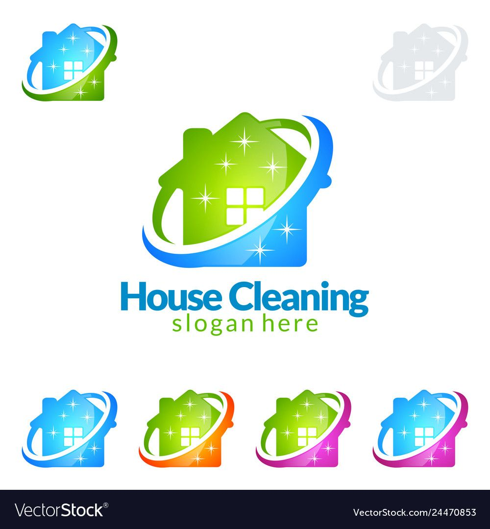 Cleaning Service Logo Design Eco Friendly Concept Vector Image Affiliate Logo Design Cleaning Cleaning Service Logo Vector Logo Design Service Logo