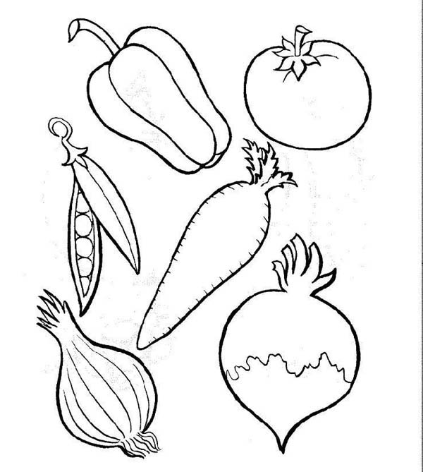 Different Types Of Vegetables Coloring Page Kids Play Color In 2020 Vegetable Coloring Pages Vegetable Pictures Fruit Coloring Pages