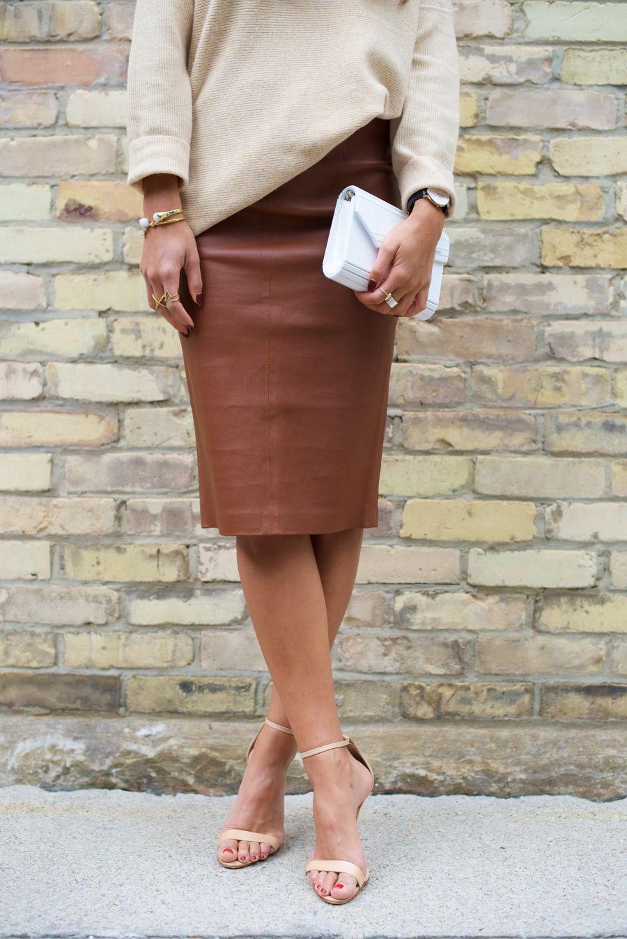 72662de269 Brown Leather Pencil Skirt | Not Your Standard | Women's Fashion ...