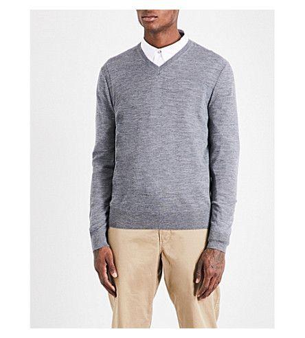 MICHAEL KORS V-neck merino-wool sweater. #michaelkors #cloth #