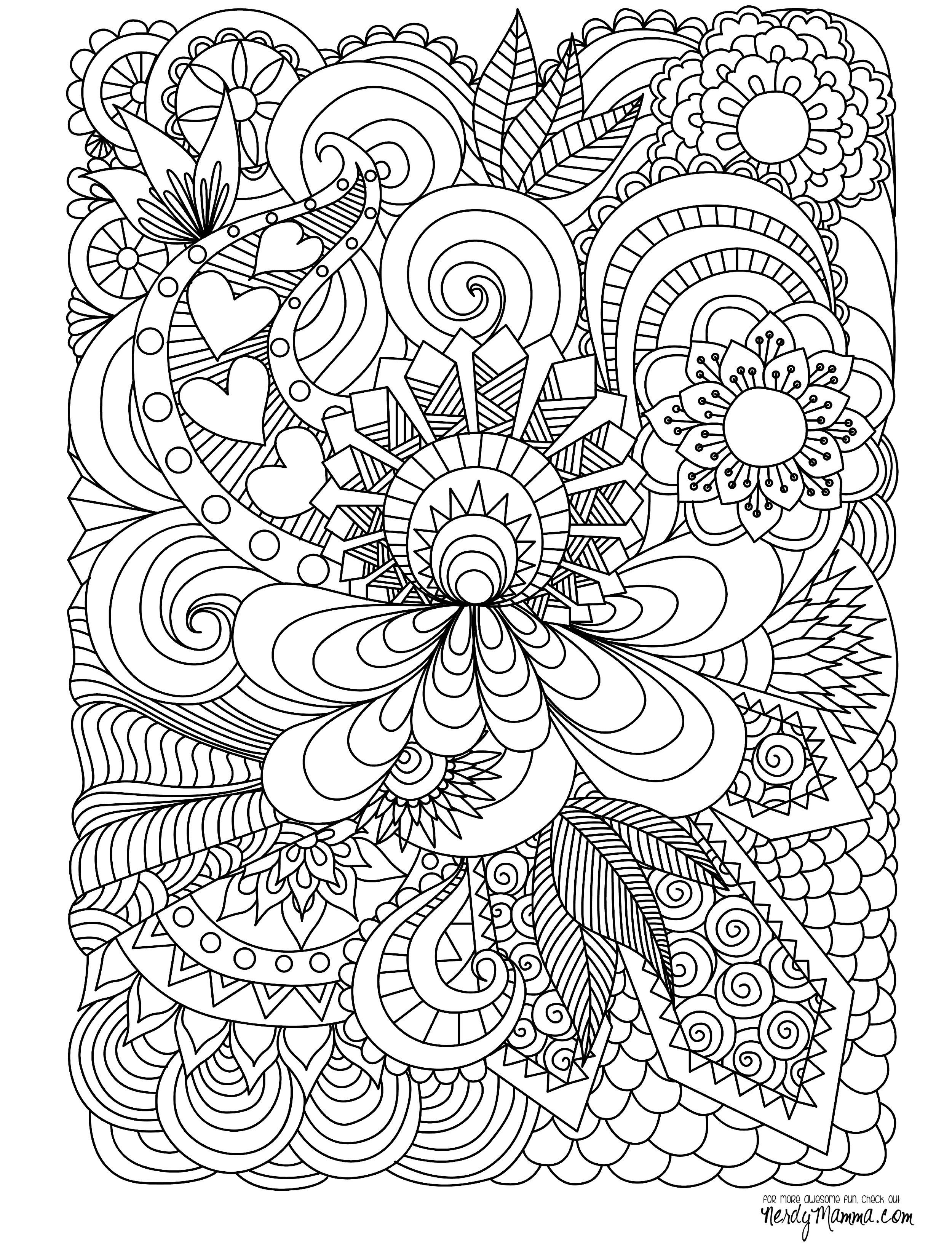 Abstract Doodle Coloring pages colouring adult detailed ... | free printable coloring pages for adults advanced