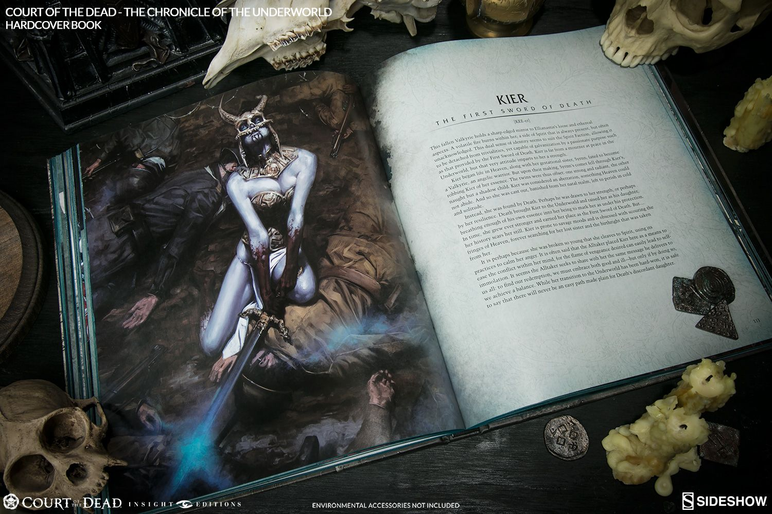 Libro Court of the Dead The Chronicle of Underworld Book Sideshow Collectibles