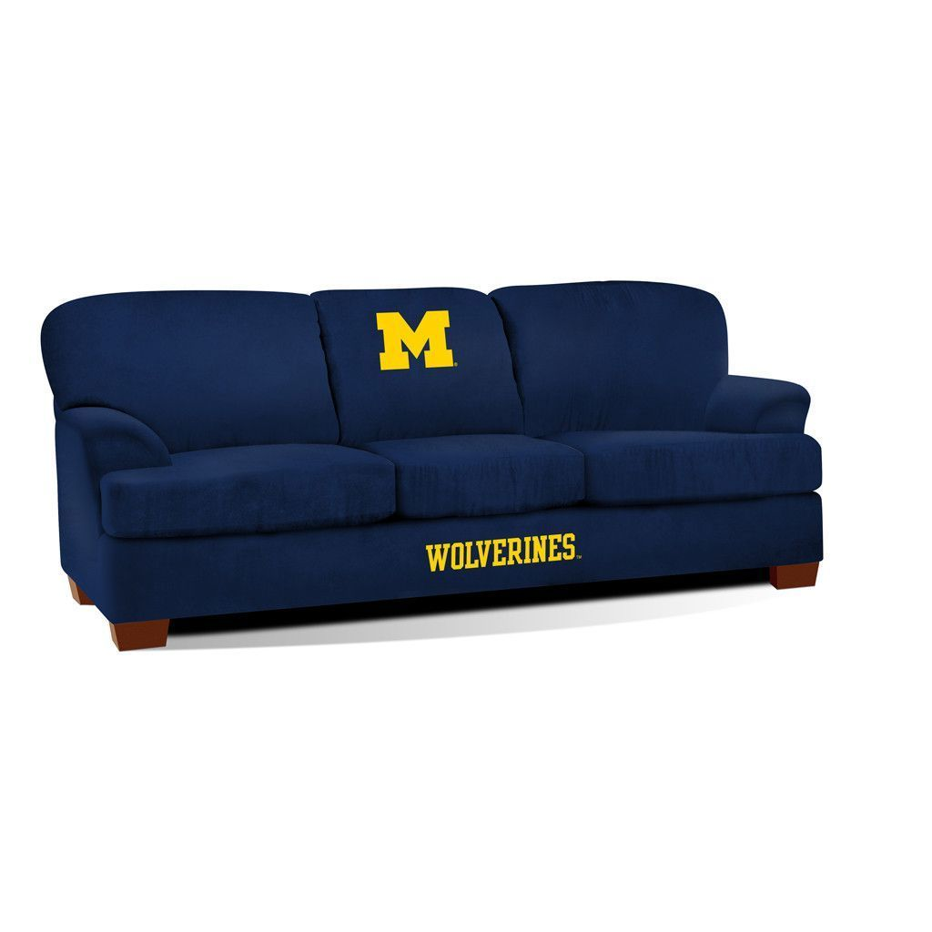 Admirable Michigan Wolverines First Team Sofa Michigan Man Cave Gmtry Best Dining Table And Chair Ideas Images Gmtryco