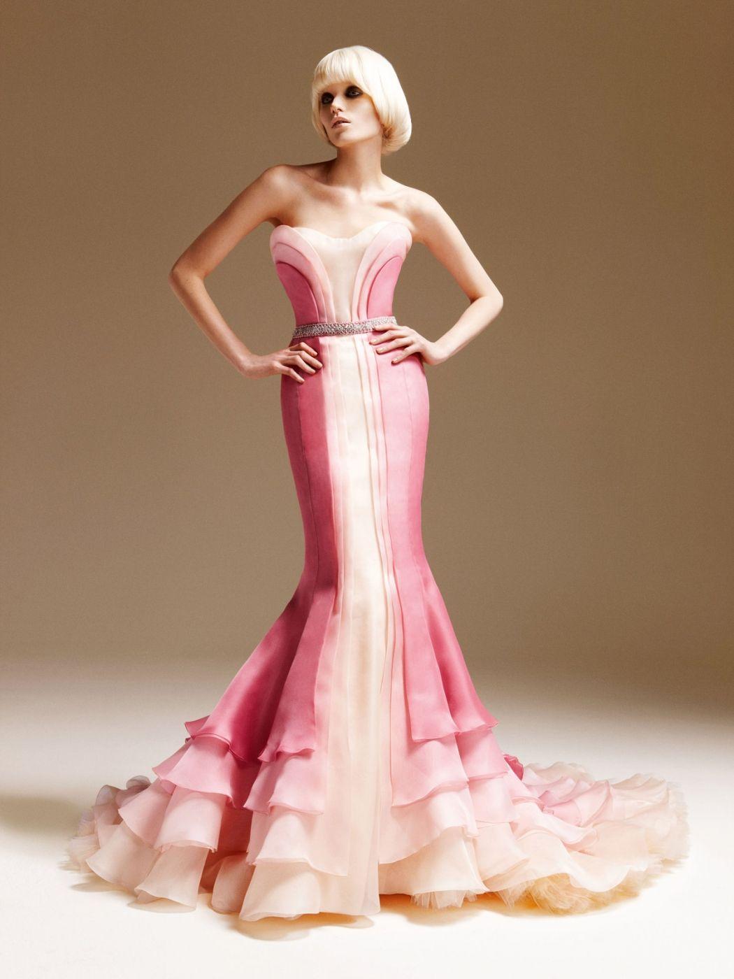 Versace- love the top | Alta costura | Pinterest | Vestido rosado ...