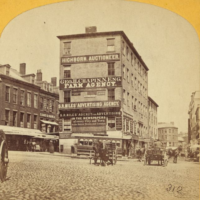 Scollay Square looking north from Court and Tremont
