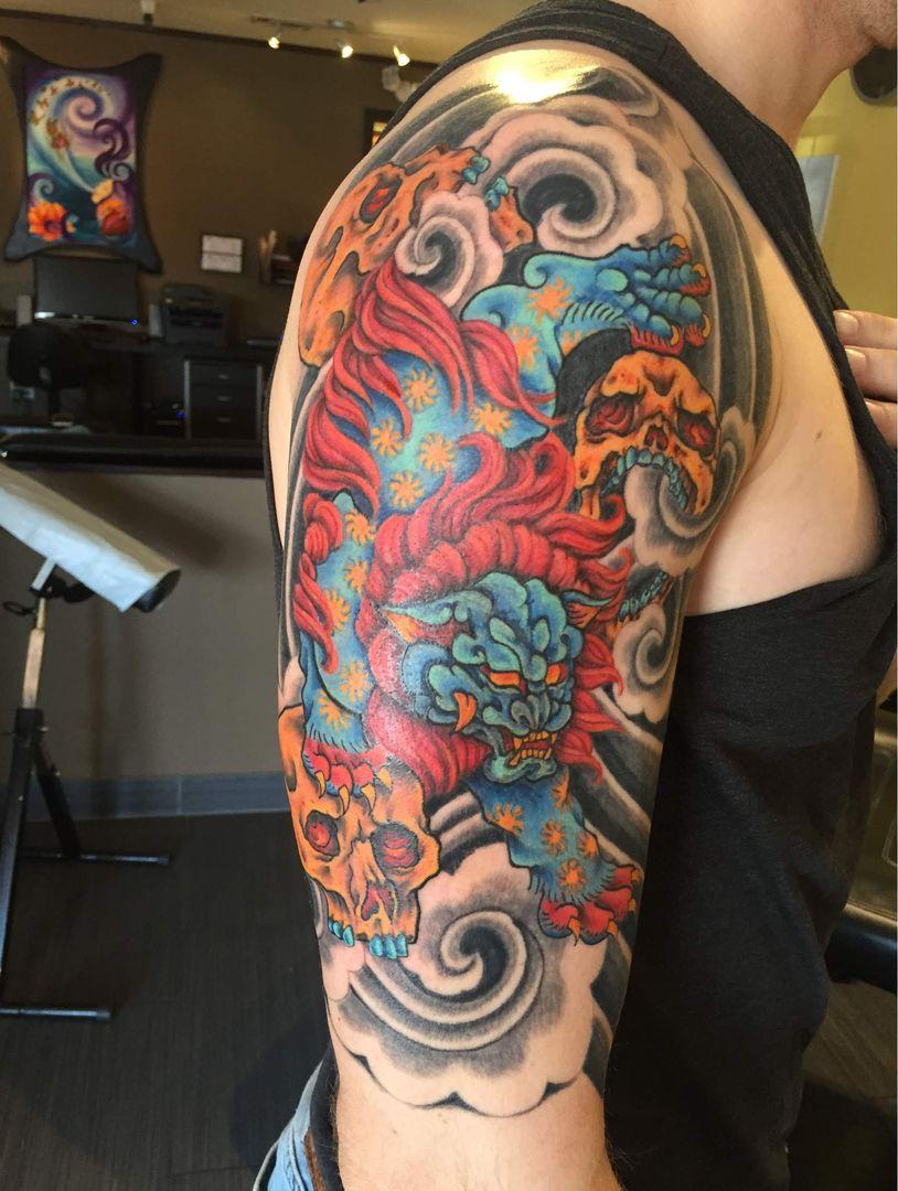 fuu dog tattoo Tattoos, Tattoo portfolio, Tattoo designs
