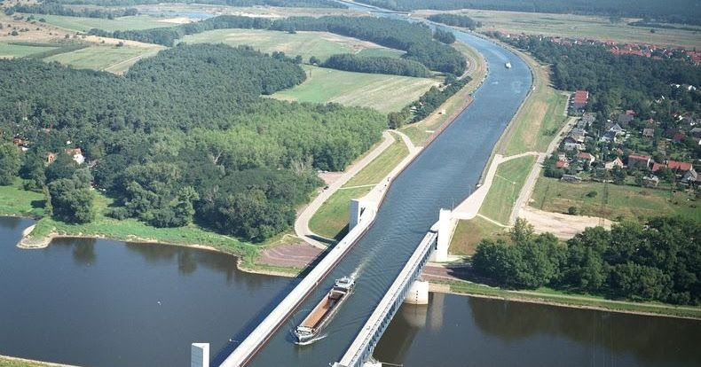Water bridges are bridge-like structures that carry navigable waterway canals over other rivers, valleys, railways or roads. Small ships and...