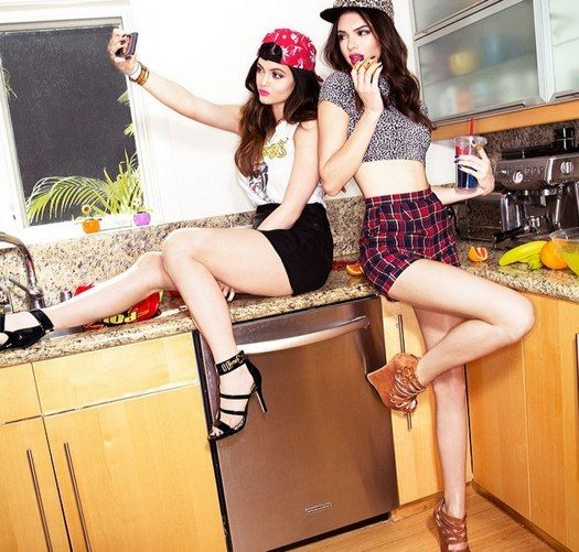 Kylie and Kendall Jenner working on a shoe and bag collection with Steve  Madden for Madden Girls