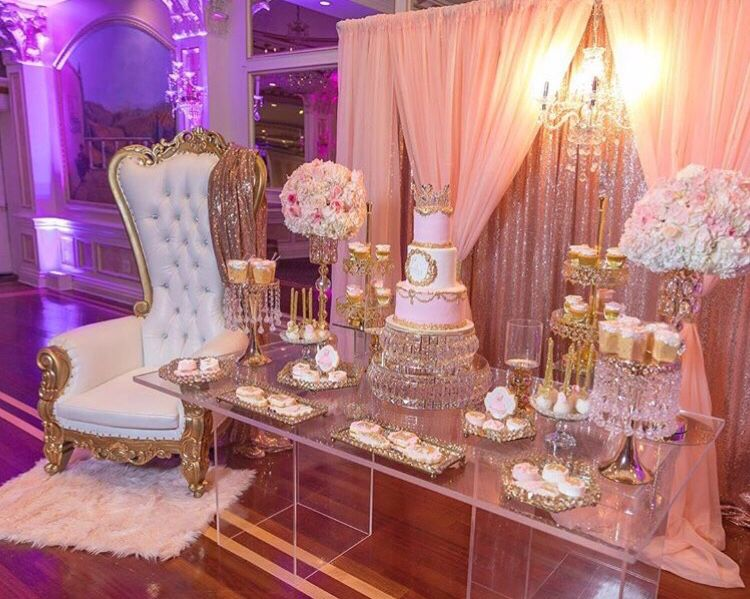 Pin By Quiana Tucker On Back Drops Pink Gold Baby Shower Rose Gold Theme Sweet 15 Party Ideas