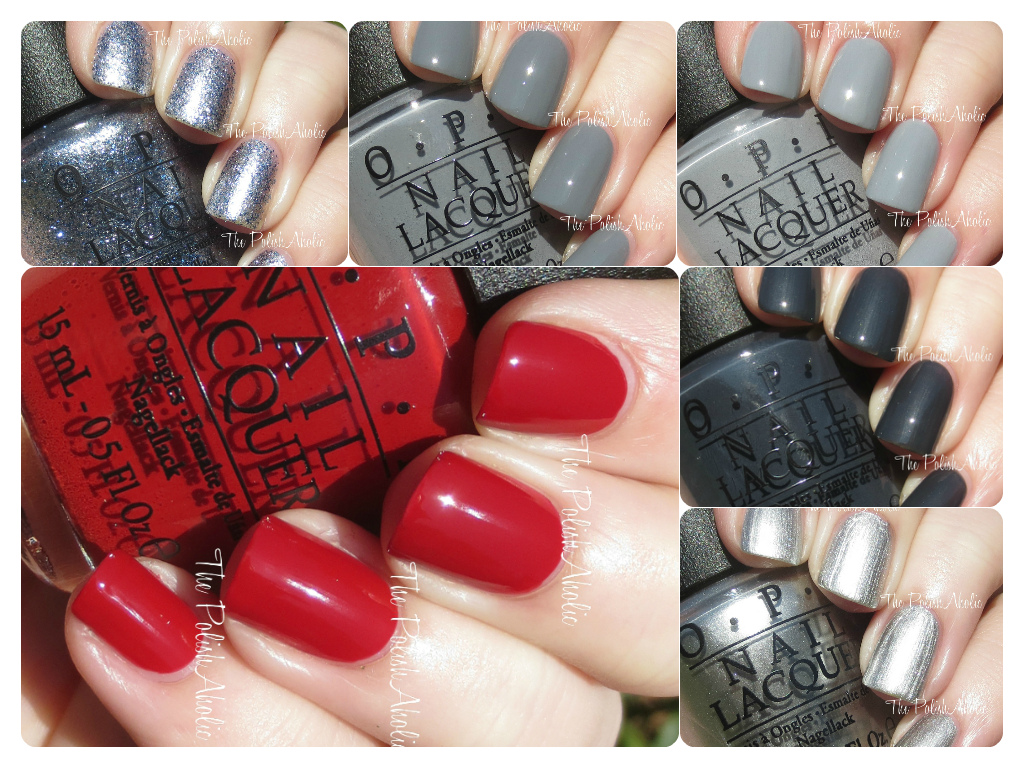 OPI Fifty Shades of Grey Collection Swatches