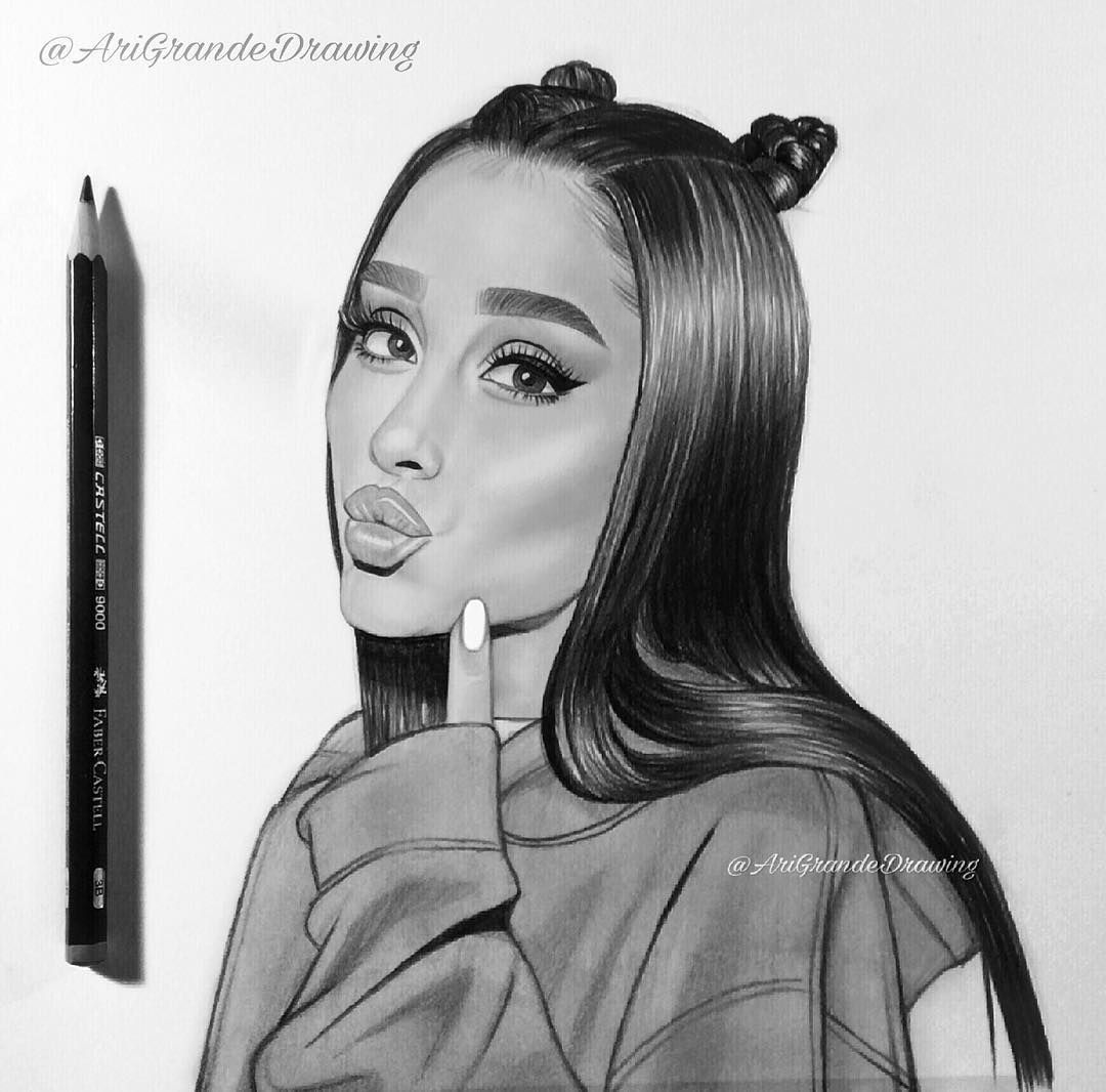 Realistic Drawings Of Ariana Grande